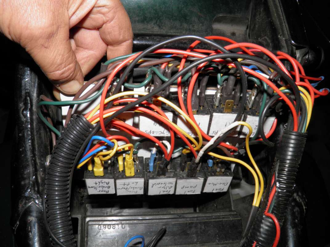 Advice On A Whole Bike Relay And Terminal Box Bad Fuse For The Panel I Added Pc 8 Under Right Side This Covered Most Fuses Needed With Only About 3 More Inline All Are Labelled Easy